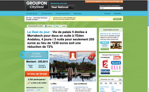 Deal groupon hôtel